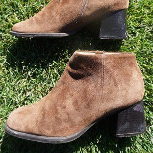 PAZZO Brown Suede Ankle Boots